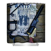 Cowboy - Law And Order Shower Curtain by Paul Ward