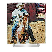 Cowboy On Paint Shower Curtain
