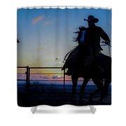 Cowboy Pirouette Shower Curtain