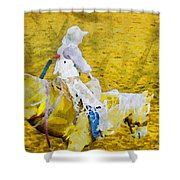 Cowboy View Shower Curtain