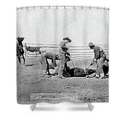 Cowboys, 1888 Shower Curtain