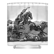 Cowboys And Longhorns Shower Curtain