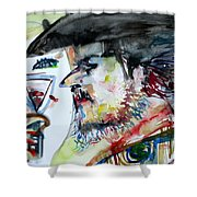 Cowboys Never Drink Alone Shower Curtain