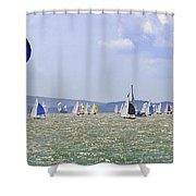 Cowes Week Isle Of Wight Shower Curtain