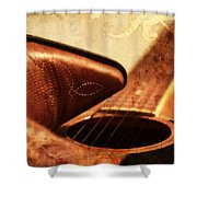 Cowgirl Boots And Country Music Shower Curtain