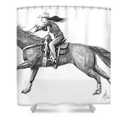 Cowgirl Full Out Shower Curtain
