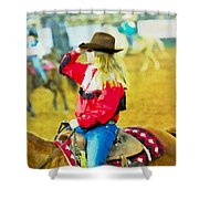 Cowgirl Waiting Shower Curtain
