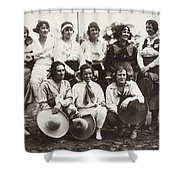 Cowgirls, 1910 Shower Curtain