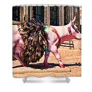Cow Parade N Y C 2000 - Prima Cowlerina Shower Curtain