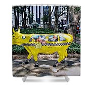 Cow Parade N Y C 2000 - Taxi Cow Shower Curtain