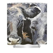 Cows In Waiting Shower Curtain