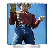 Cowtown Cowboy Shower Curtain