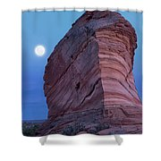 Coyote Buttes Moonrise Shower Curtain