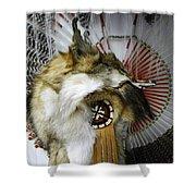 Coyote Headdress 1 Shower Curtain