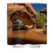 Coyote Natural Bridge - Coyote Gulch - Utah Shower Curtain by Gary Whitton