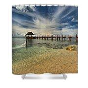 Cozumel Beach Paradise Shower Curtain