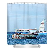 Cozumel Excursion Boats Shower Curtain