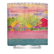 Cozumel Kaleidoscope Shower Curtain
