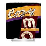 Cozy Mo - Black Shower Curtain