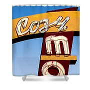 Cozy Mo - Blue Shower Curtain