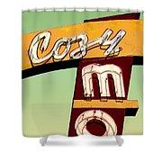 Cozy Mo - Green Shower Curtain