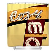 Cozy Mo- Yellow Shower Curtain