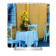 Cozy Table For Two Shower Curtain