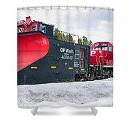 Cp Rail Plow Shower Curtain