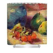 Crab Apples And Pears Shower Curtain