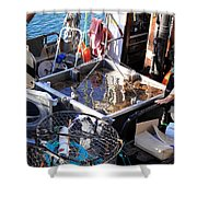 Crab Boat Shower Curtain