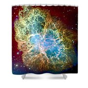 Crab Nebula Shower Curtain