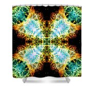 Crab Nebula V Shower Curtain