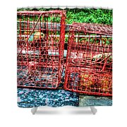 Crab Pots Shower Curtain