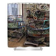 Crab Pots Shower Curtain