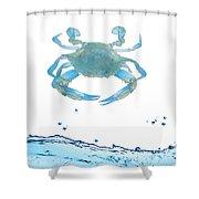 Crab Strolling Around Shower Curtain