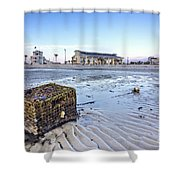 Crab Trap Washed Ashore Shower Curtain
