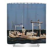 Crabbing Smith Island Md Shower Curtain