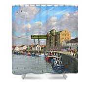 Crabbing - Wells-next-the-sea Norfolk Shower Curtain