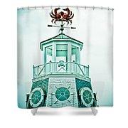 Crabby Weathervane Shower Curtain