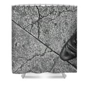 Crack In The Pavement Shower Curtain