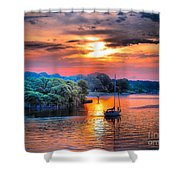 Crack O' Dawn Shower Curtain