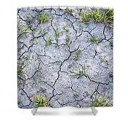 Cracked Earth Background Shower Curtain