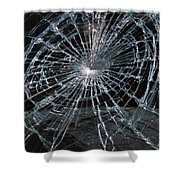 Cracked Glass Of Car Windshield Shower Curtain