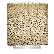 Cracked Ground Shower Curtain