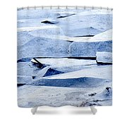 Cracked Icescape Shower Curtain