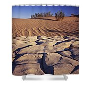 Cracked Mud - Sand Ripples Shower Curtain