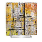 Cracked Wood Background Shower Curtain by Carlos Caetano