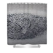 Crackles Shower Curtain