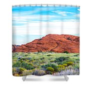 Cracks In The Hills Shower Curtain