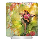 Cradle Your Heart Shower Curtain